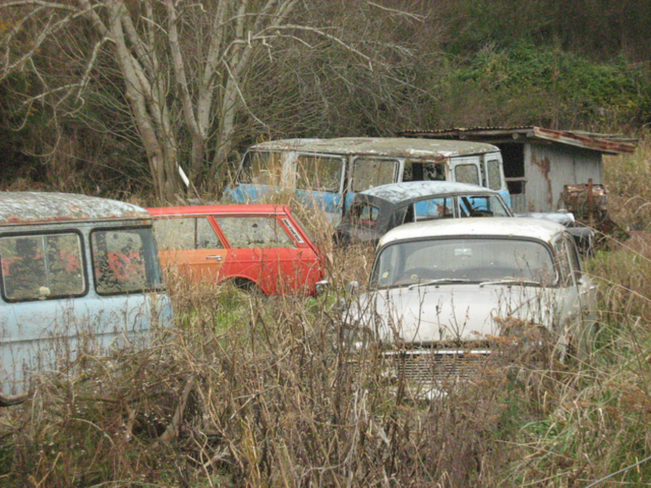 2 Commer Cobs, Hillman Hunter Wagon, Triumph Mayflower and Humber ...