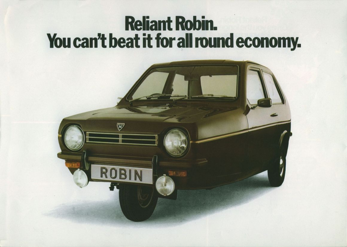 Three wheeler Reliant Robin still rolling in the 21st century