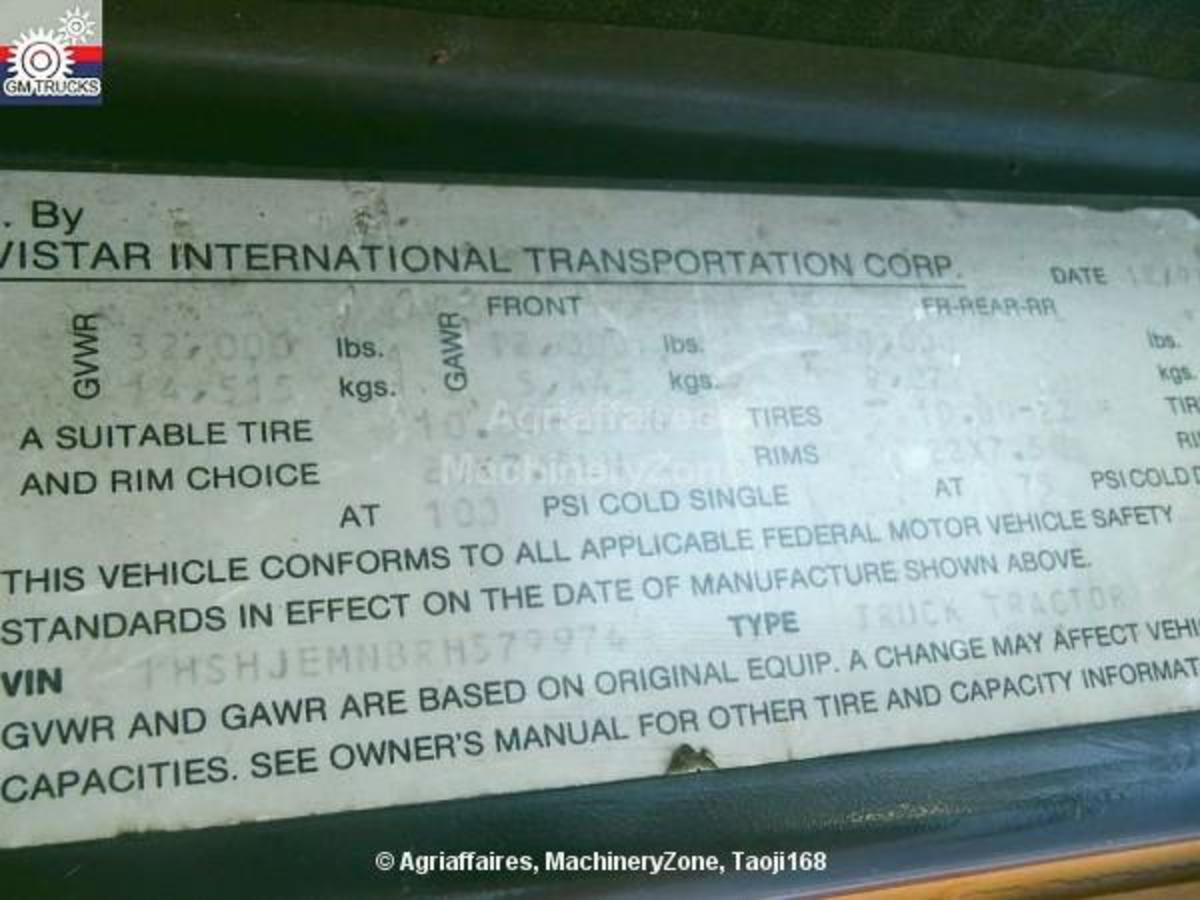 Tractor Unit International 8300 of 1994, for sale - MachineryZone