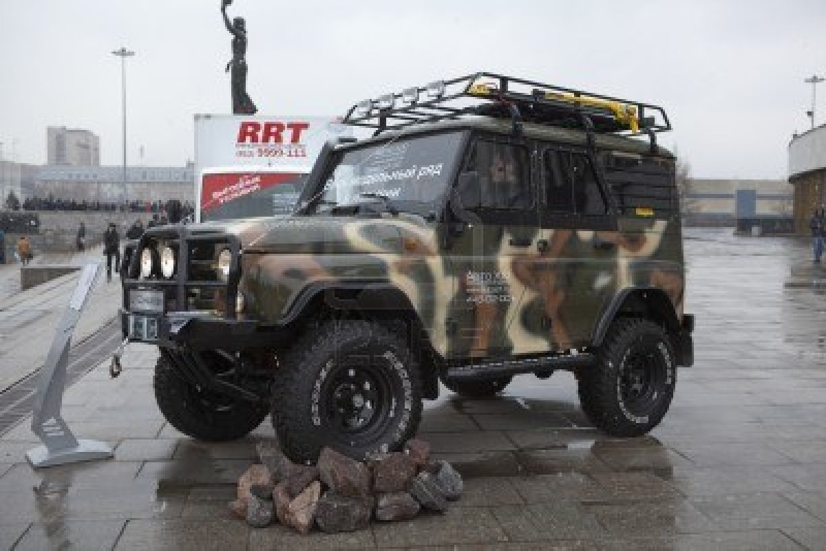 SAINT-PETERSBURG, RUSSIA - CIRCA MARCH, 2012: UAZ Hunter On ...