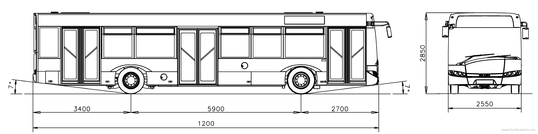 The-Blueprints.com - Blueprints > Buses > Solaris > Solaris Urbino 12