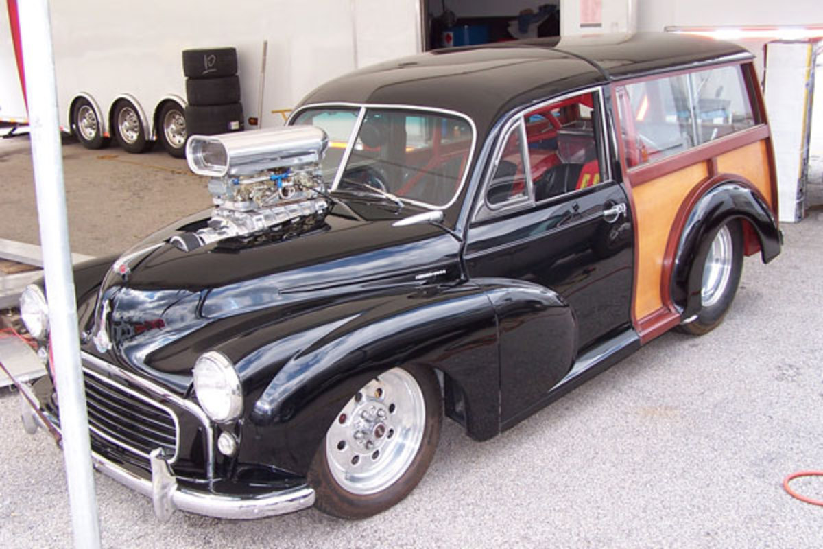 Mick Sinclair's 1956 Morris Minor 1000 Traveller with Chevy 350 V8