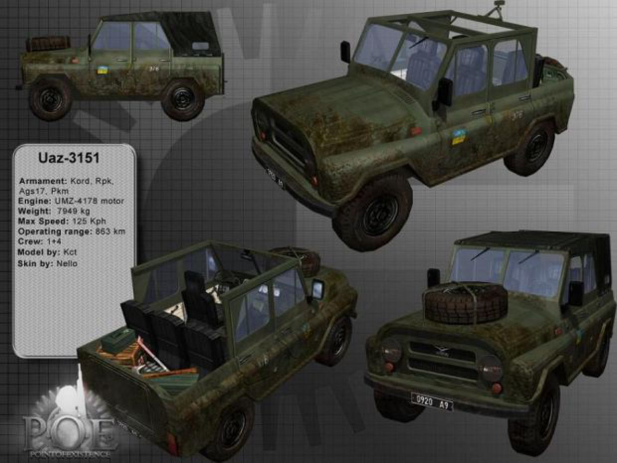 Uaz-3151 transport vehicle image - Point of Existence: 2 Mod for ...