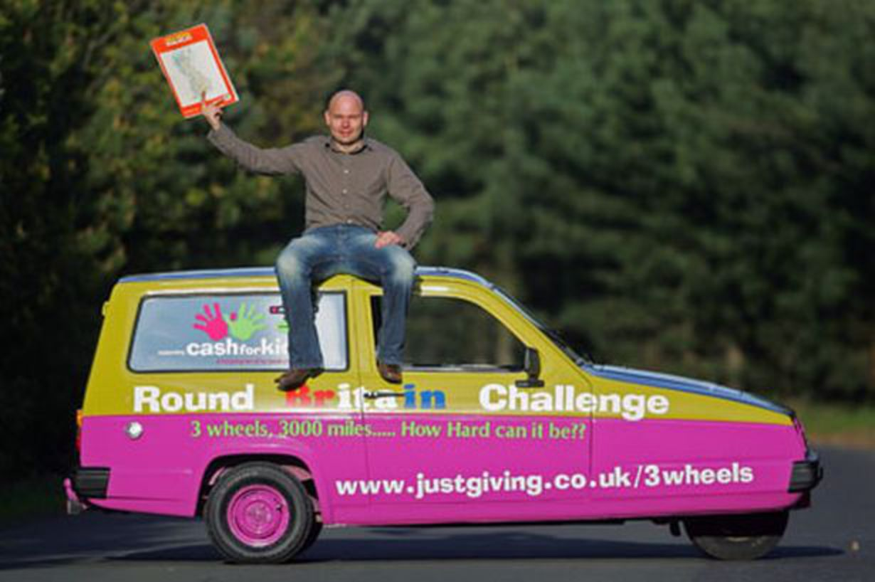 Three-wheel charity adventure for Reliant Rialto - Chronicle Live