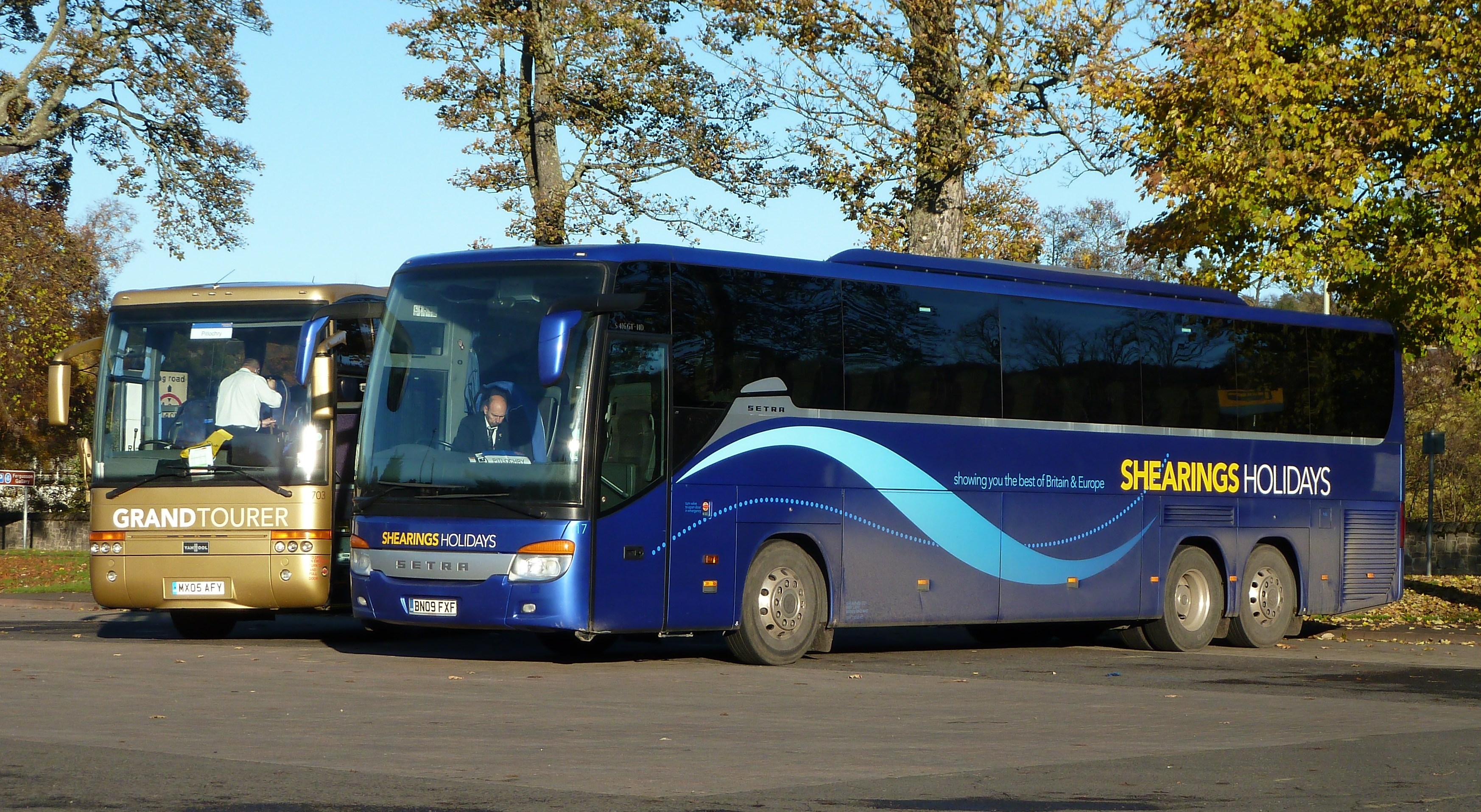 VOLVO B12M VanHool & SETRA S416 GT-HD - SHEARINGS HOLIDAYS ...