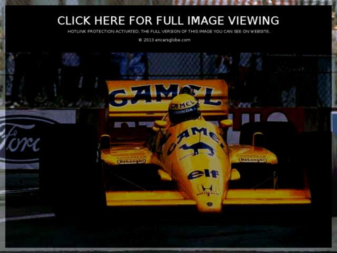 Lotus 99T Honda: Photo gallery, complete information about model ...