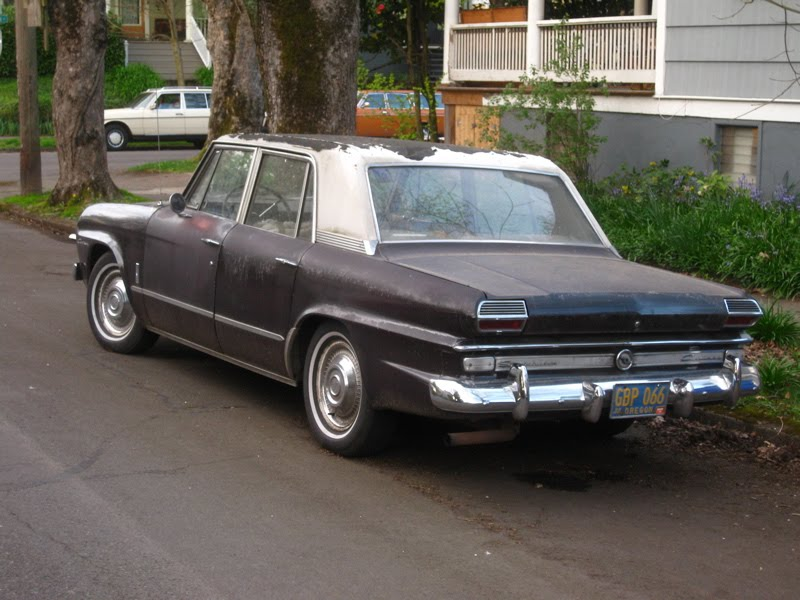 OLD PARKED CARS.: 1966 Studebaker Cruiser Sedan.