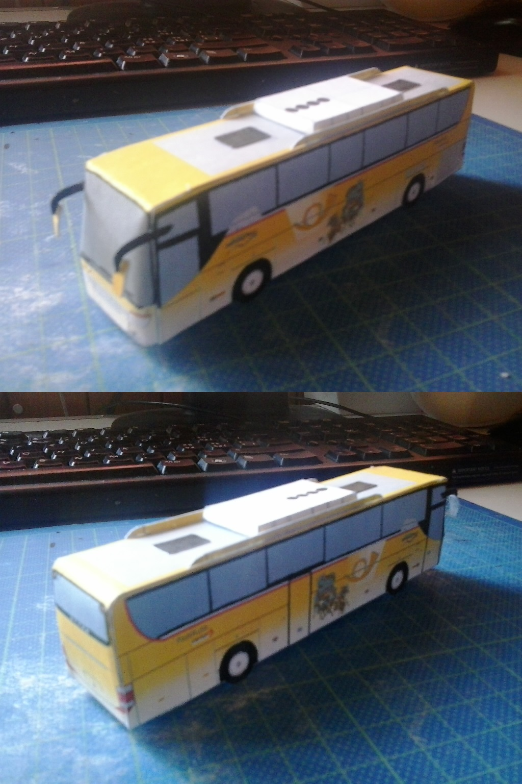 Setra S415 GT HD PostBus Free Vehicle Paper Mode - Papermodeler