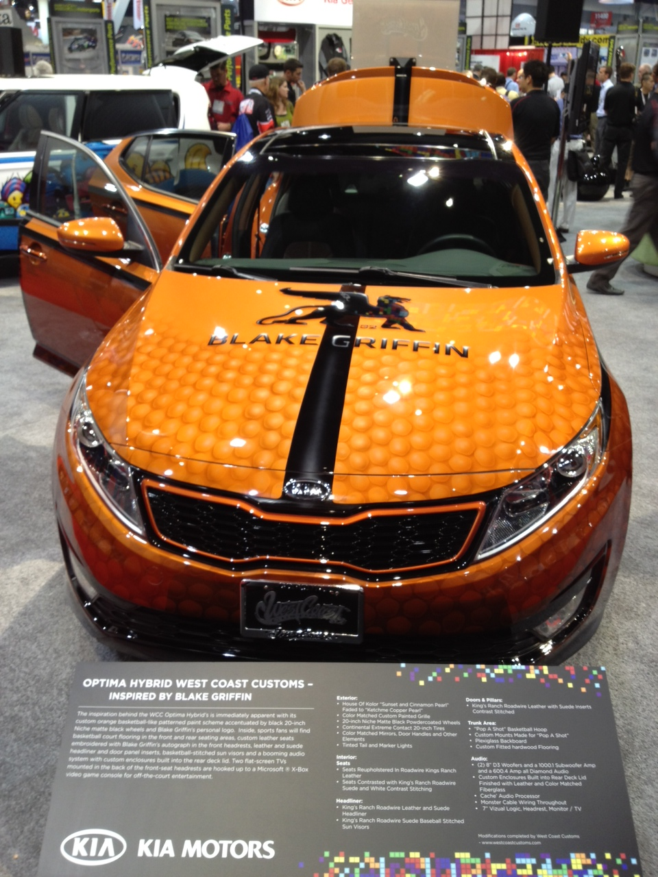 Blake Griffin Kia Optima: 2011 SEMA Live Photos