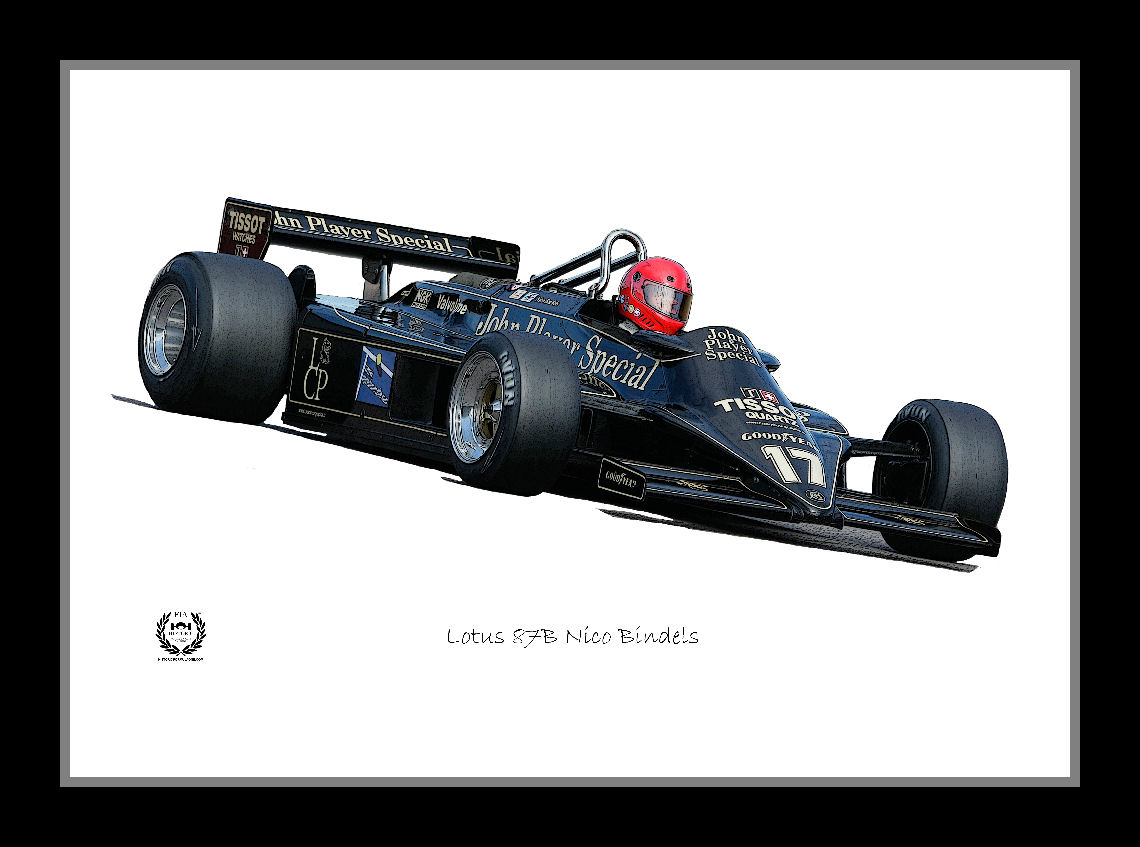 Lotus 87B A2 Framed Poster Art