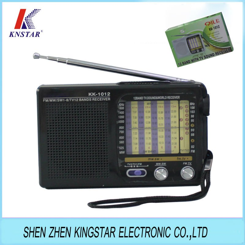 KK-1012 am fm sw tv 12 bands AA battery radio,View desk radio am ...