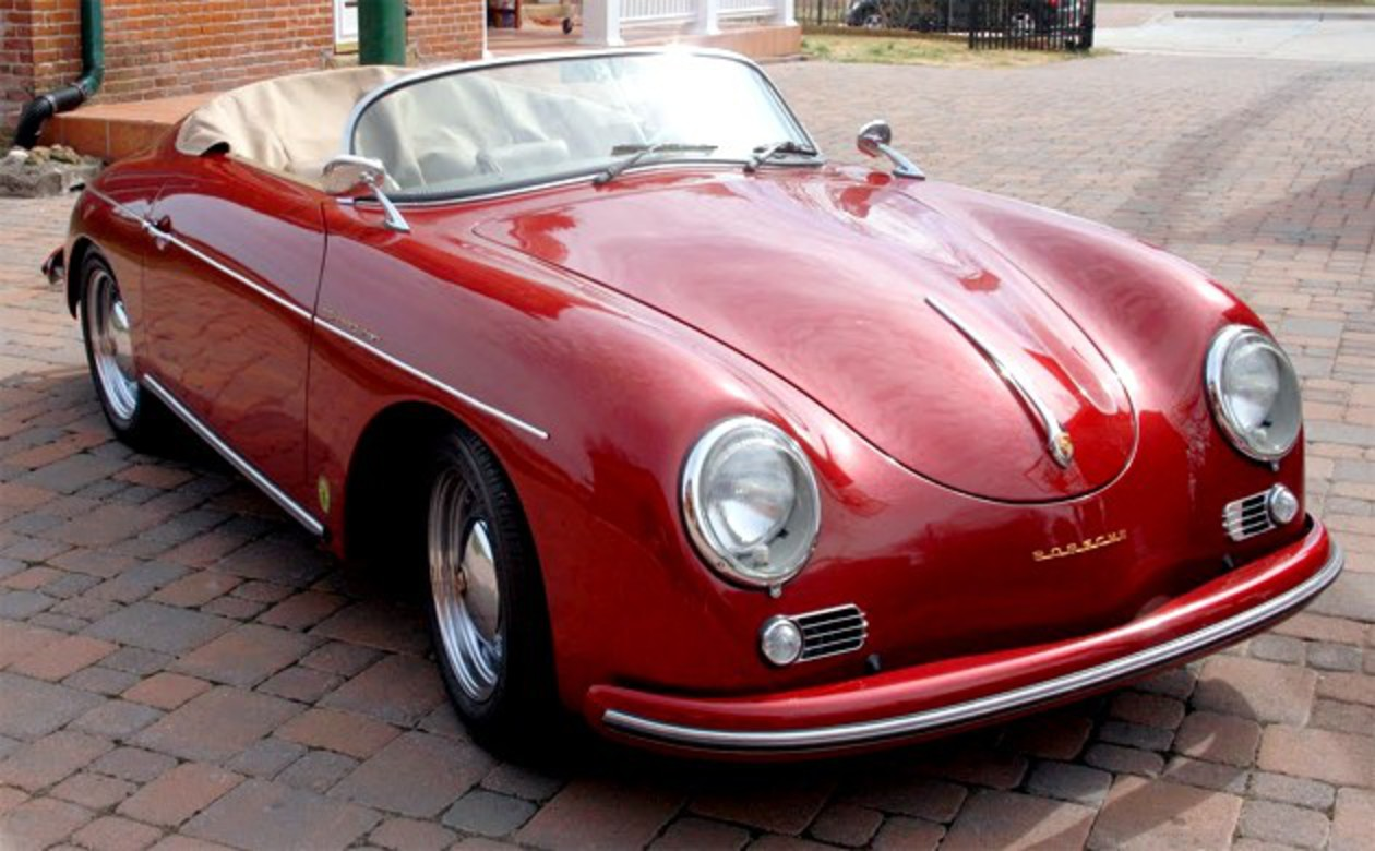 Electric Porsche 356 Speedster replica - click above for high res gallery