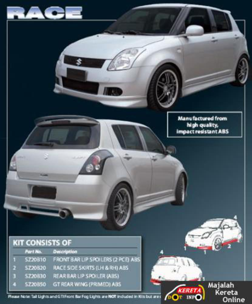 Suzuki Swift Sport 1.6 VVT DOHC Engine Capacity: 1,586cc