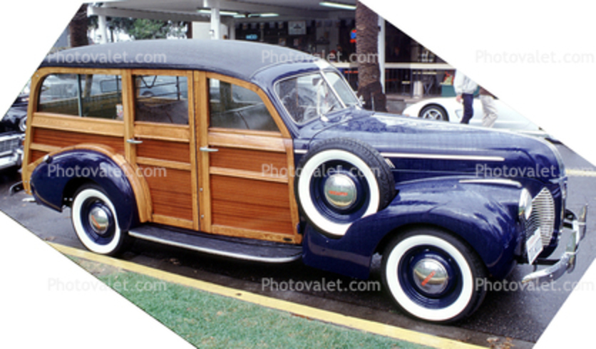 Dodge, Woody Station Wagon, Whitewall Tires