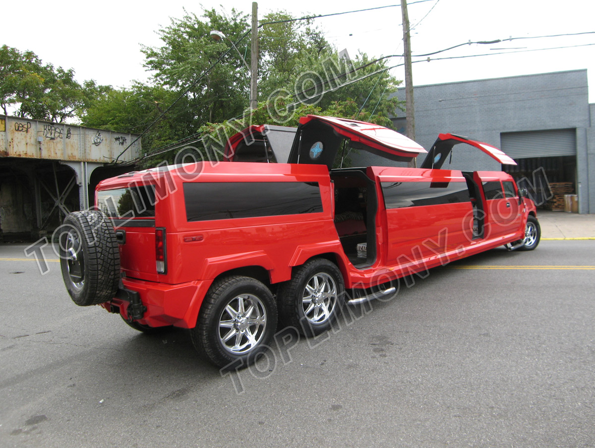 "Hummer H2 limo. There are plenty of ""colorful"" stretch limos on eBay (trust"
