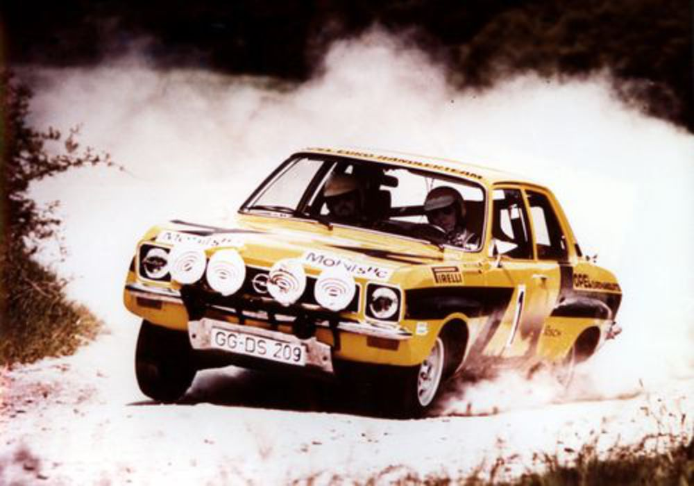 Opel Ascona Rallye. In 1974 Walter Röhrl and Jochen Berger lined up at the