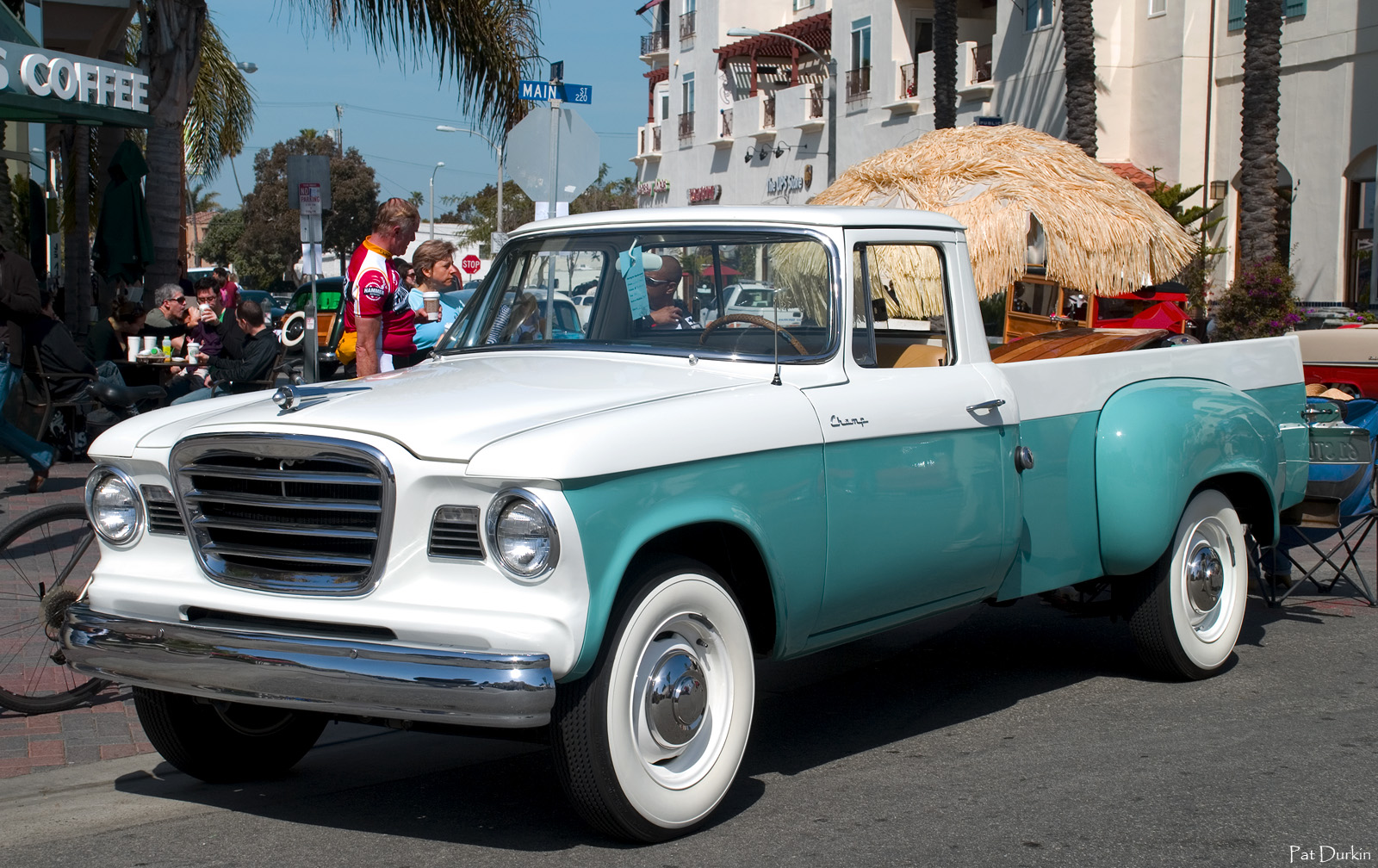 1961 Studebaker Champ pickup - white & turquoise - fvl - AACA ...