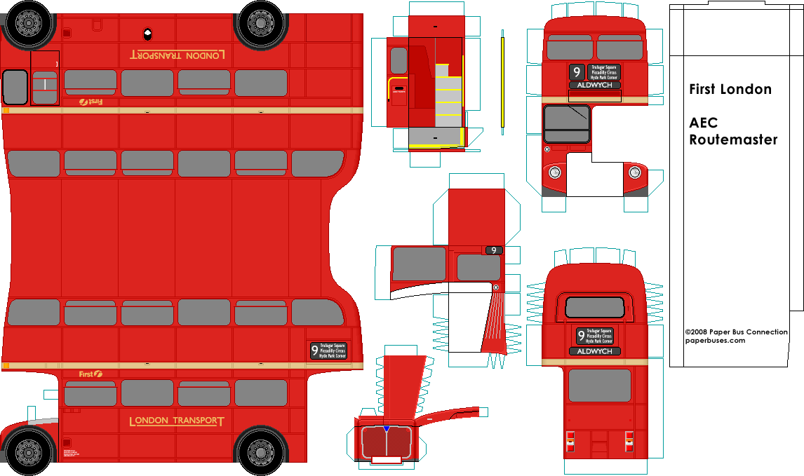 Как сделать двухэтажный автобус из бумаги - ФоксТел-Юг