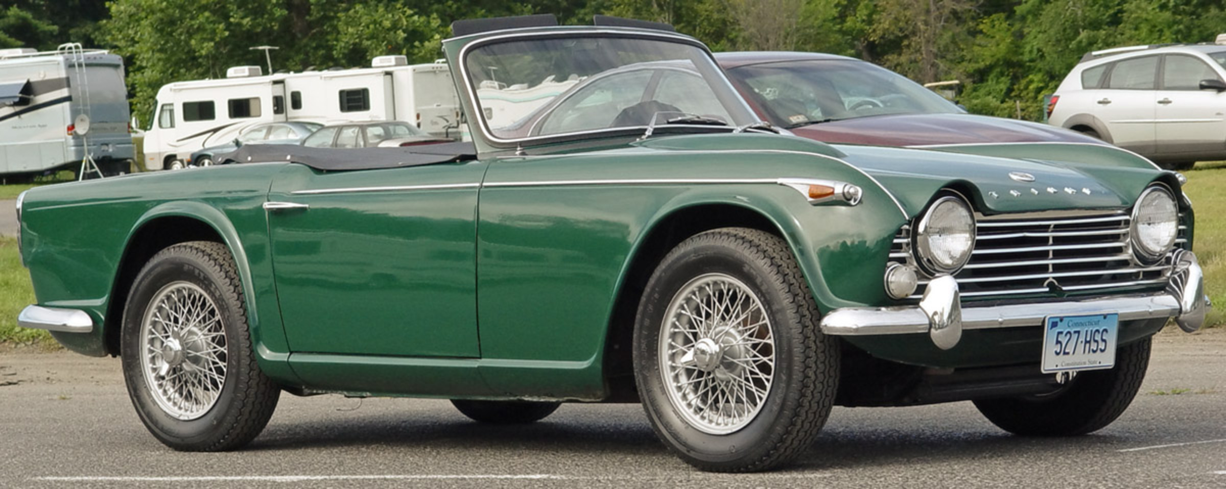 Triumph TR4A - Green - Side Angle