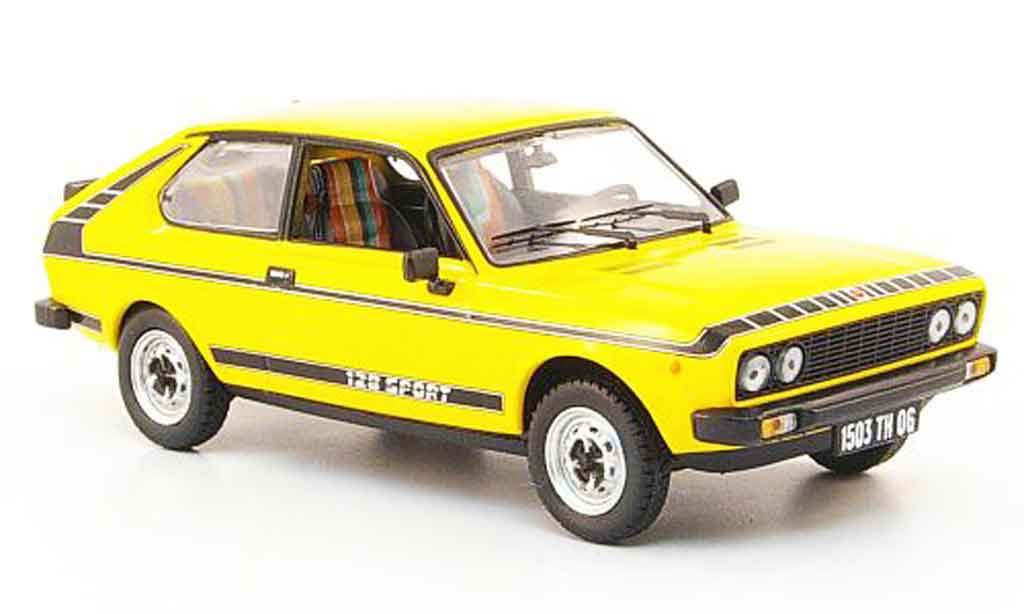 Fiat 128 Coupe Sport yellow 1978 Norev 1/43