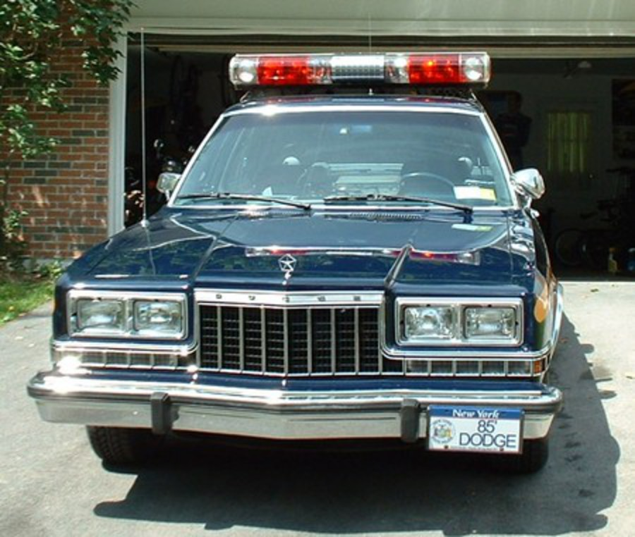 1985 Dodge Diplomat cop car. Finally, he tipped us off on a Max Rockatansky