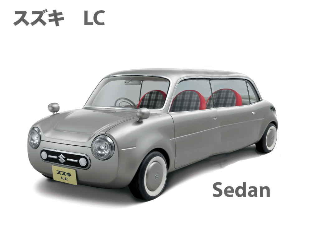 Suzuki LC sedan. I remeber a year or so ago, Suzuki came out with the LC