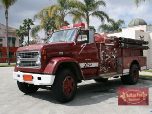 of our city procured a vintage Chevrolet fire truck and fixed it up.