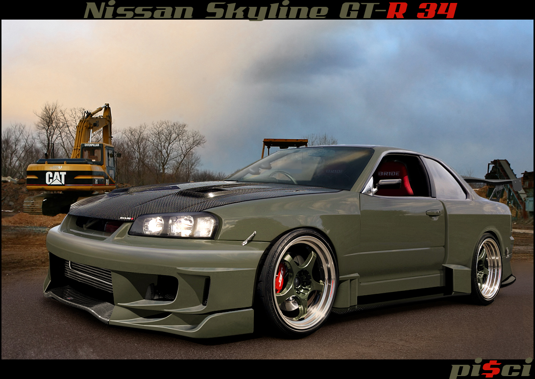 Nissan Skyline GT-R 34 by ~Pisci on deviantART