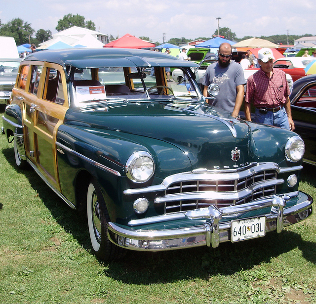 1949 Dodge Woody Station Wagon. Chrysler Carlisle Car Show