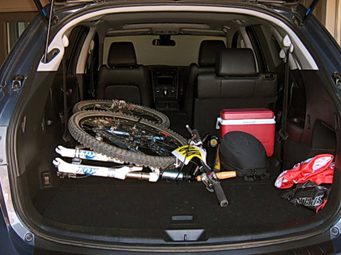 Mazda CX-9 - loaded cargo area. Let's talk about cargo space.