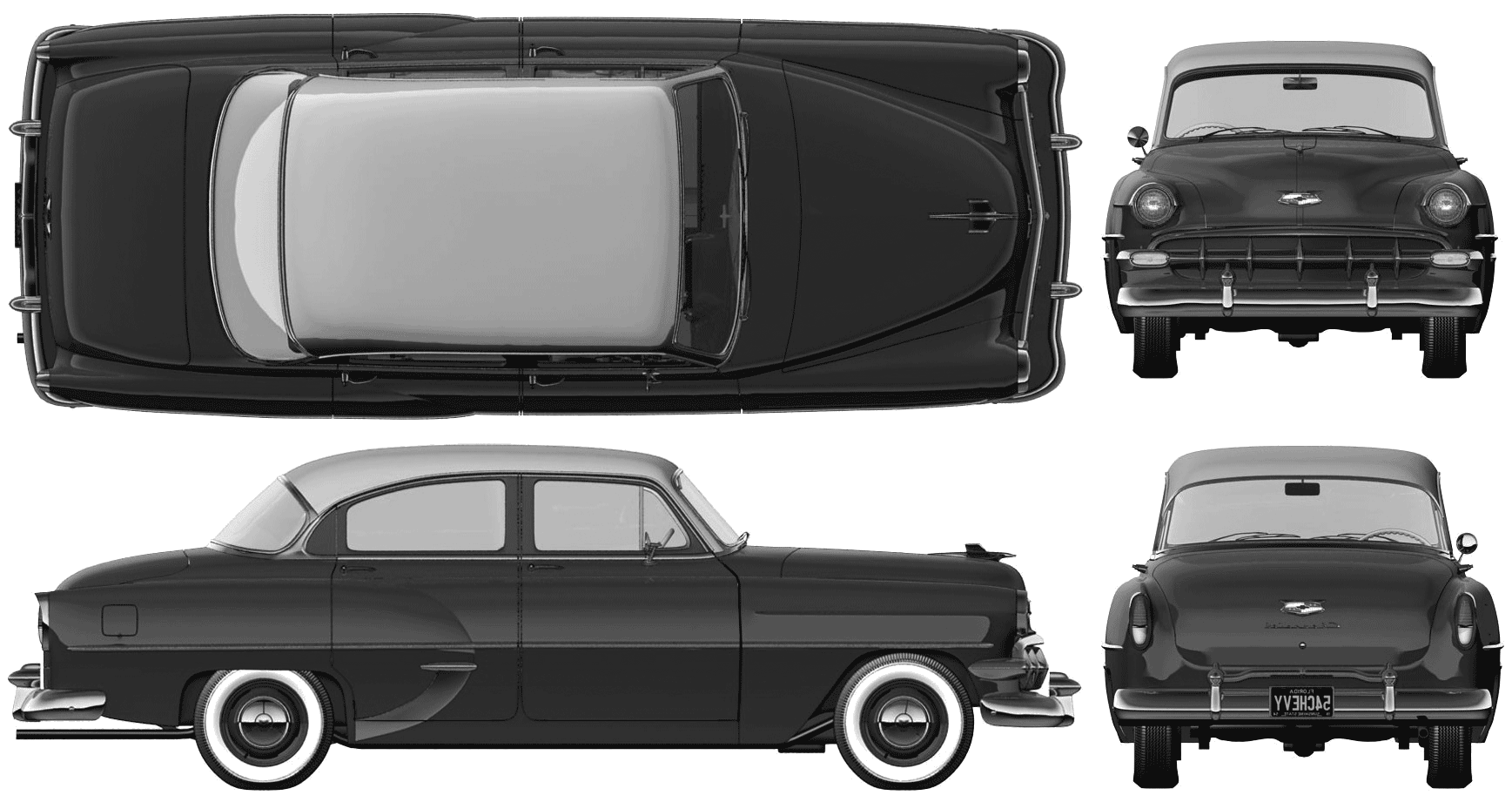 1954 Chevrolet 210 Sedan blueprint