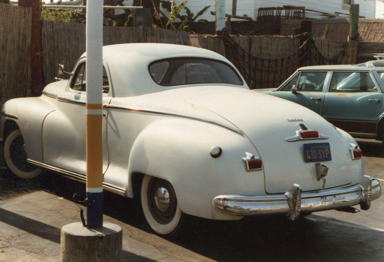 "Re: 1948 Dodge Business Coupe help. ""Does this white paint make my butt look"