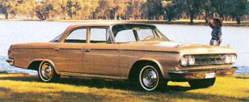 The 1964 Dodge Custom 880 brought wraparound horizontal taillights and