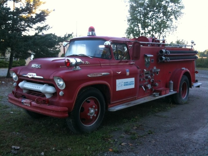 The seller of this 1957 Chevrolet fire truck picked a rather ideal time to