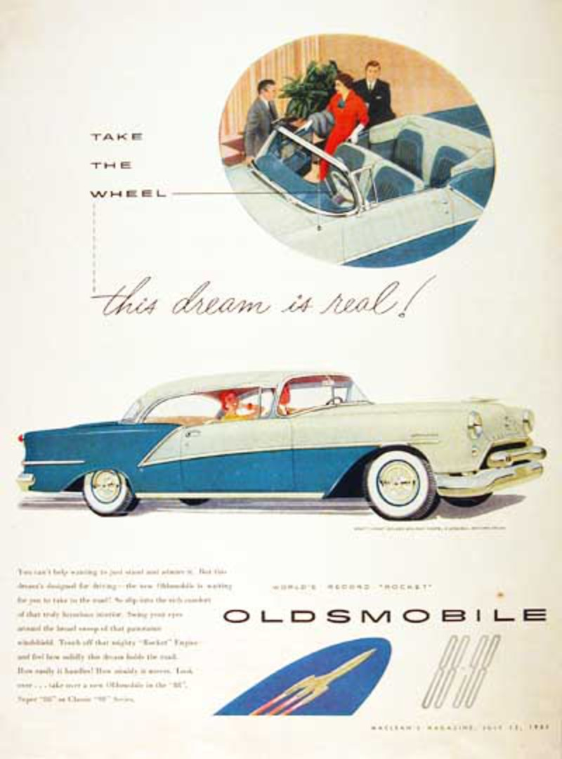 1954 Oldsmobile 98 Holiday Coupe. 1954 Oldsmobile 98 #000608