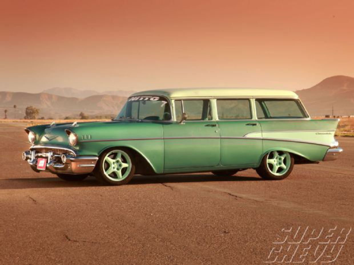 1957 Chevy 210 Wagon - Corner Carvin' Family Hauler