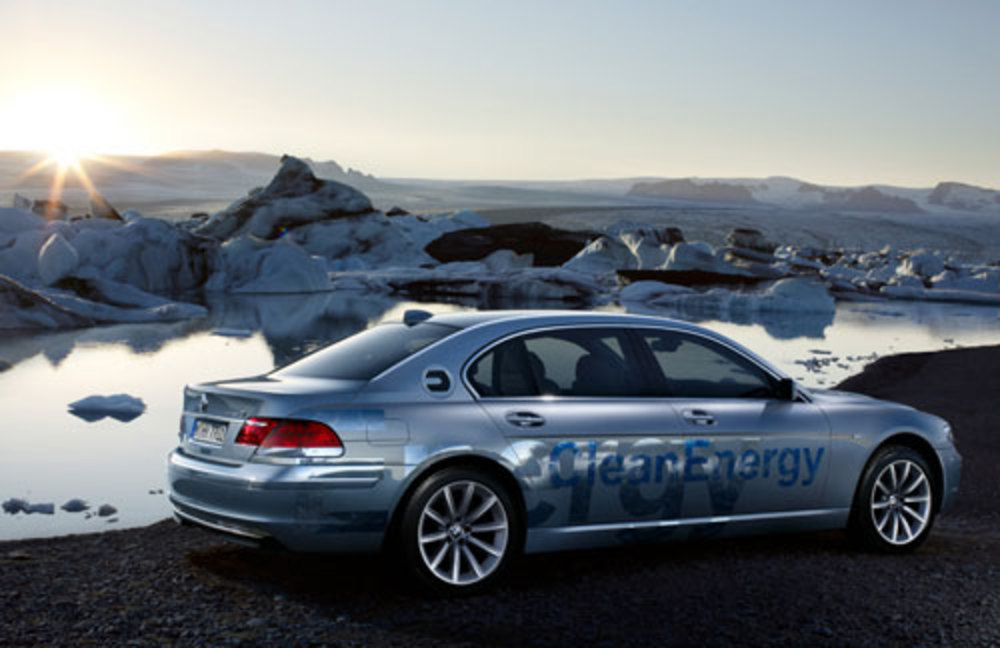 BMW Hydrogen 7 uses Hydrogen power, albeit with a conventional petrol engine