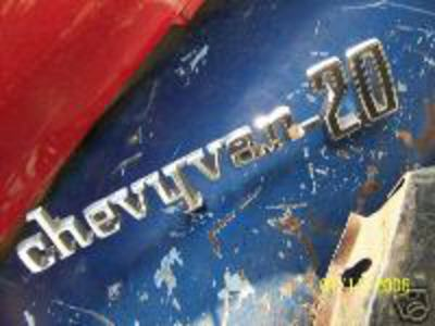 Chevrolet Chevyvan 20 Used Original GM Emblem 1971 1972 1973 1974 1975 |