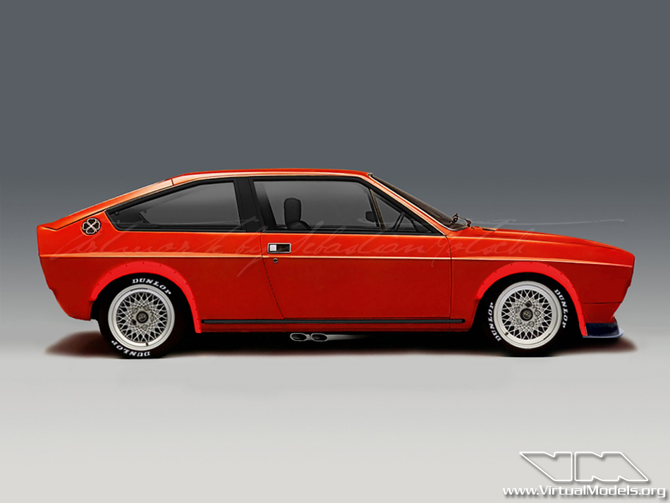 Alfa Romeo Alfasud Sprint | photoshop chop by Sebastian Motsch (2010)