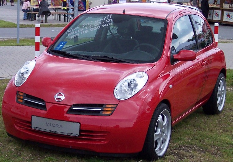 File:Nissan Micra 2005 red vl.jpg. No higher resolution available.
