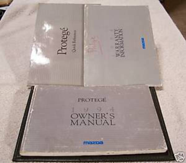 **LOOK* 1994 Mazda Proteg Owners Manual Set And Case. Zoom; Enlarge