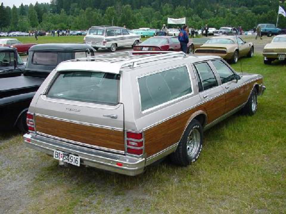 85 Chevrolet Caprice Estate Wagon, Silver, Rear Corner (1981)