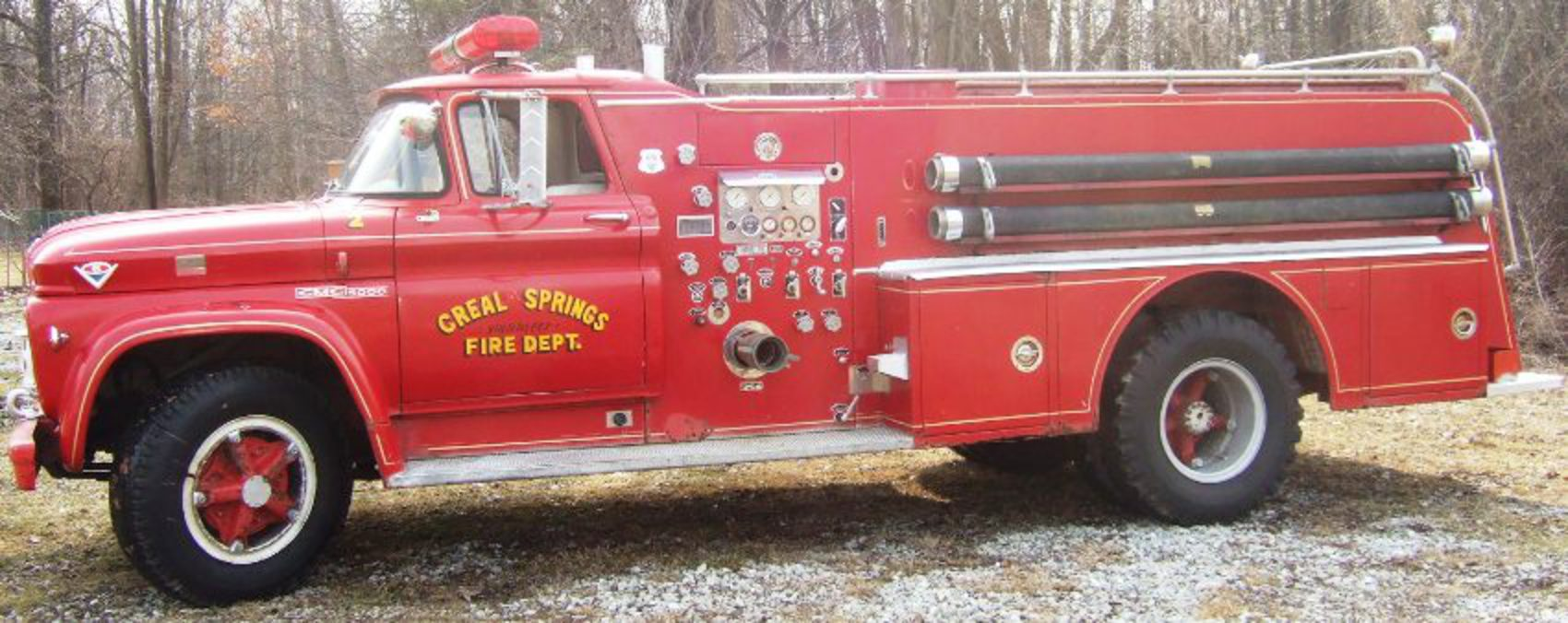 A 1963 GMC Fire Truck from Creal Springs Fire Department was one of five