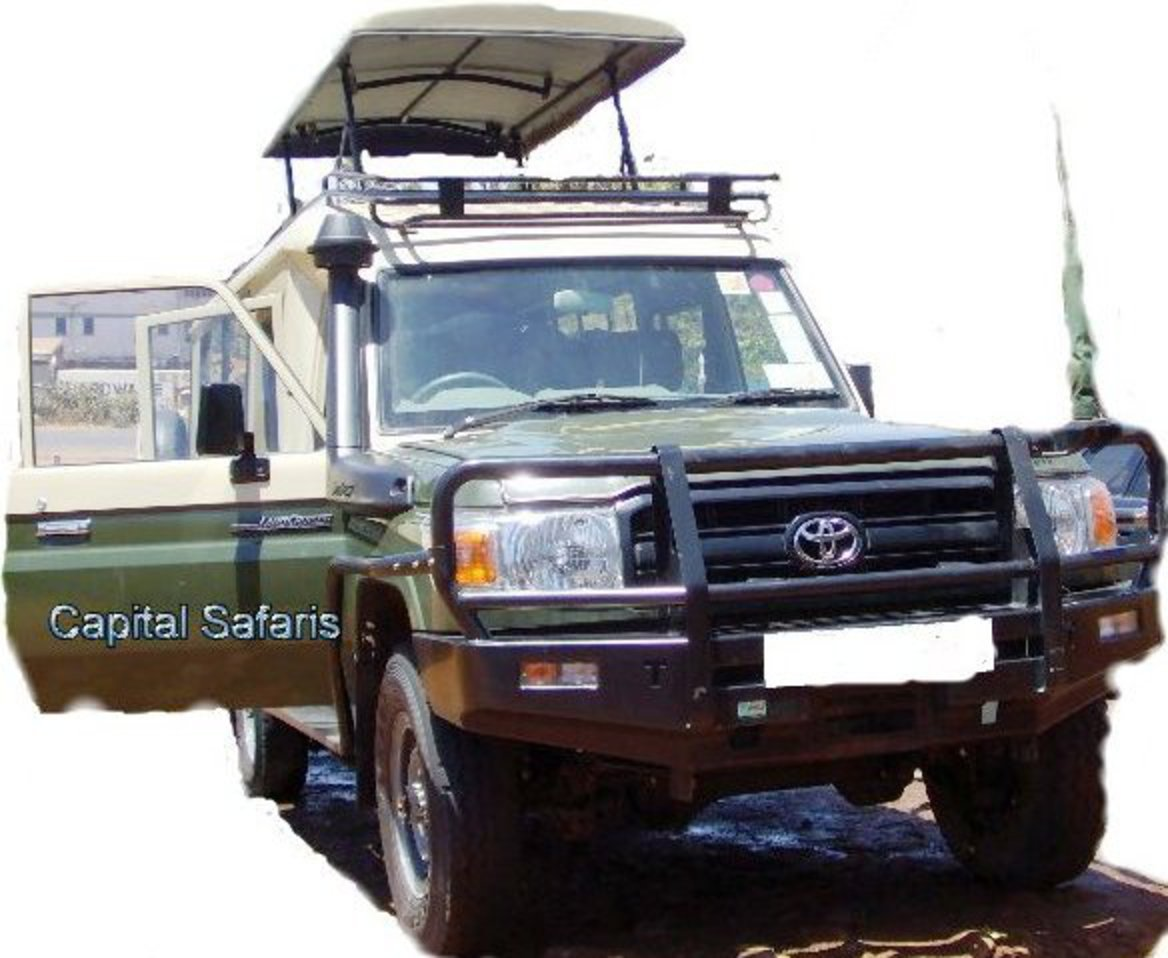 Car Title : Safari Customized toyota land cruiser with pop roof