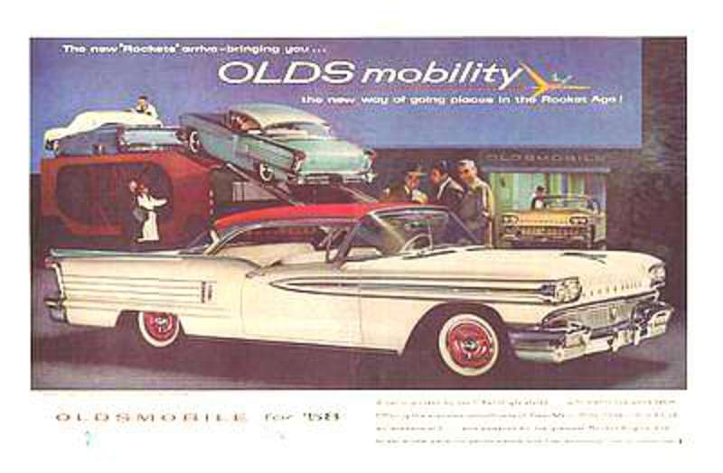 1958 Oldsmobile 98 Holiday Coupé Ad