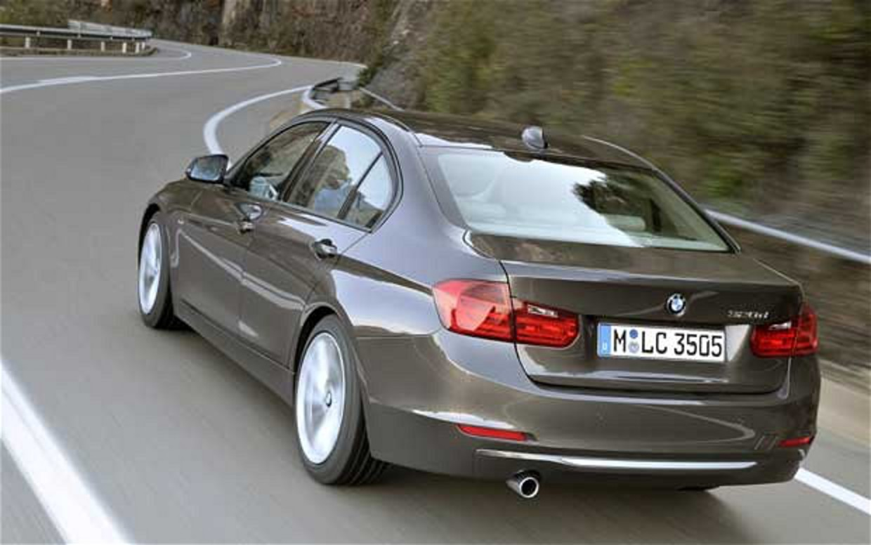 BMW 320d review. Image 1 of 4. The 3-series is at home on twisty roads as it