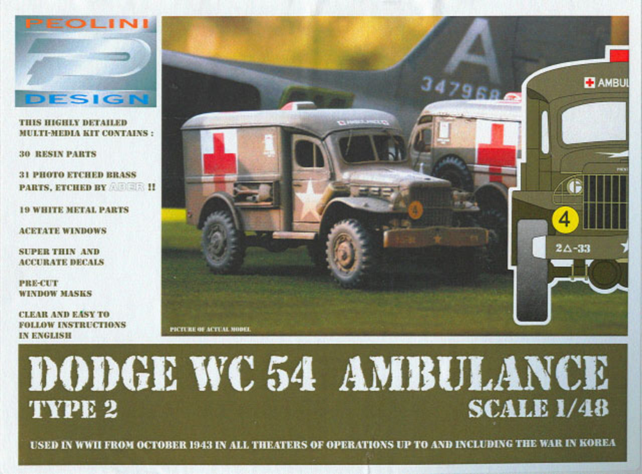 Home > Reviews > 1/48 > Dodge WC54 Ambulance Type 2 (Peolini Design 1/48)