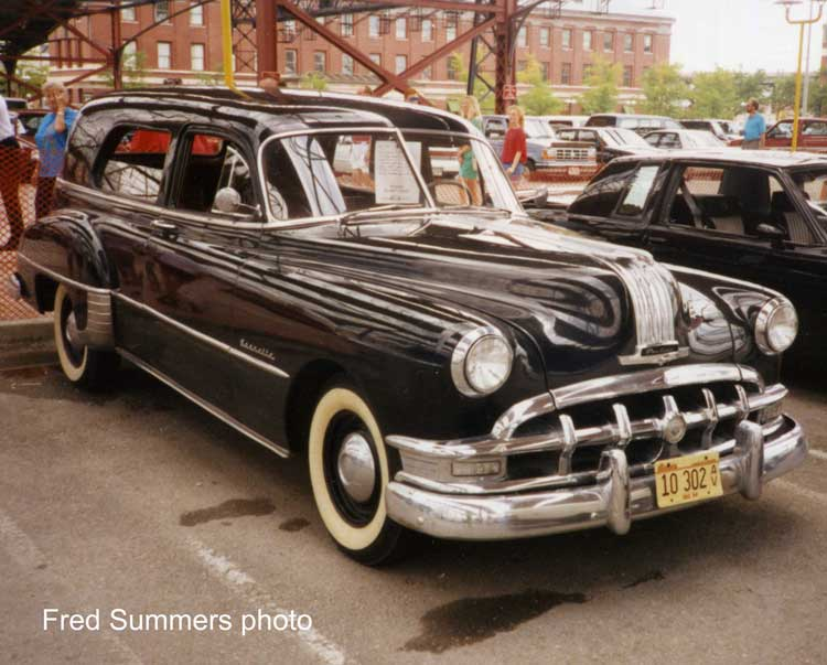 however, with this 1950 Pontiac sedan delivery with rear side windows.