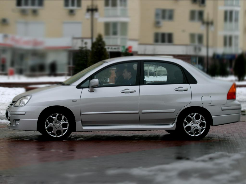 Model Suzuki Liana is begining 2001 in Japan. The end of make is 2007.