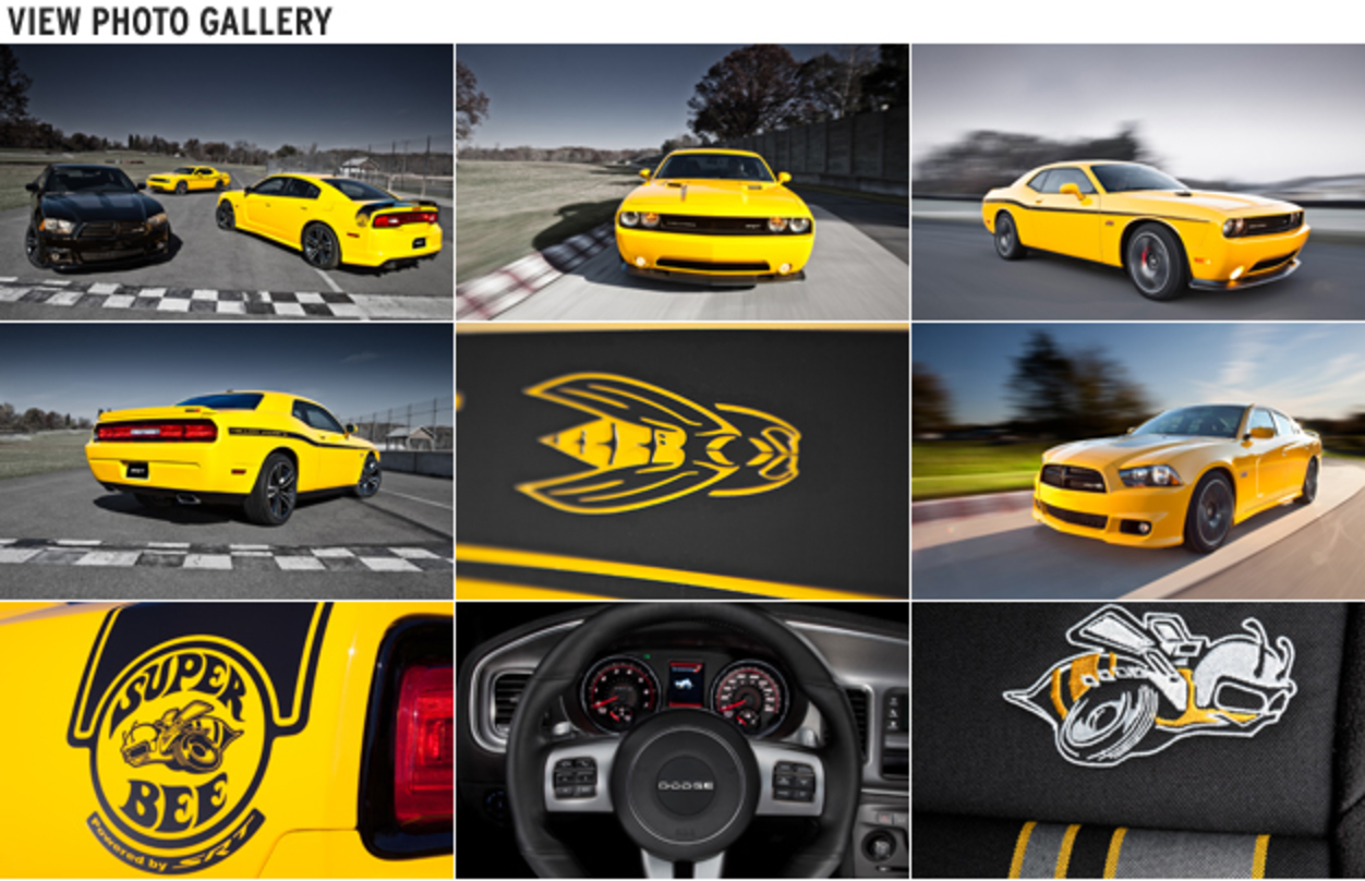 2012 Dodge Charger SRT8 Super Bee and Challenger SRT8 392 Yellow Jacket